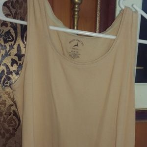 White Stag Tee Stretch Size M Tan Blouse